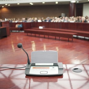 view from a toledo accident attorney on the stand during deposition