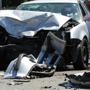 car crash being viewed by a toledo automobile accident attorney experienced