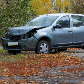 deformed car of a person calling a trusted auto accident lawyer toledo