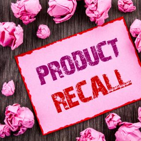 Text showing Product Recall. Business photo showcasing Recall Refund Return For Products Defects written on Pink Sticky Note Paper Folded Paper on wooden background and if you are looking for a product liability attorney find a skilled one in Perrysburg.