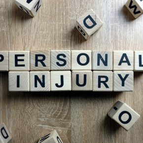 "Block spelling out ""personal injury"" representing how you should contact a Perrysburg injury lawyer if you have had an accident."